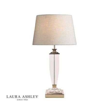 Laura Ashley Carson Polished Nickel & Crystal Table Lamp Base Medium