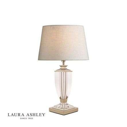 Laura Ashley Carson Polished Nickel & Crystal Table Lamp Base Small