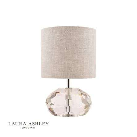 Laura Ashley Ivy Faceted Crystal Glass Pumpkin Table Lamp with Shade