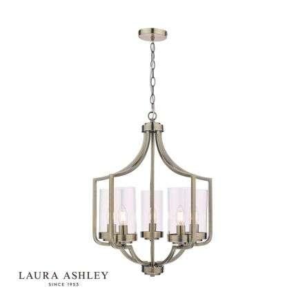 Laura Ashley Joseph Antique Brass 5 Light Chandelier