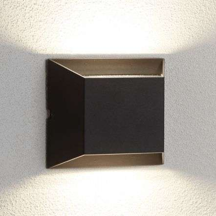 LED Outdoor 2lt Wall Bracket, Black