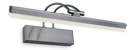 LED Picture Lights in Brushed Steel 8W