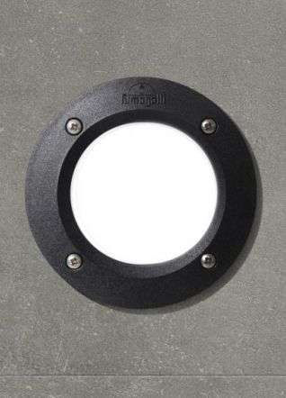 Leti100 3W Round Black Recessed Wall Light
