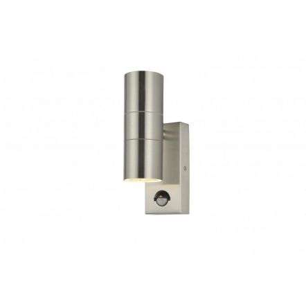Leto Up and Down c/w PIR in a Stainless Steel Finish