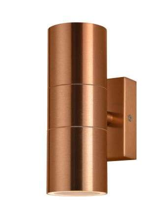 Leto Up and Down Wall Light in a Copper Finish
