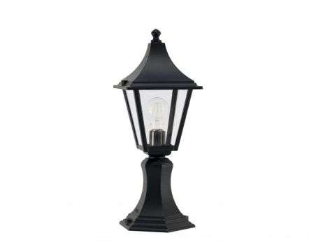 Linek Small 4-Sided Post Top Lantern Black
