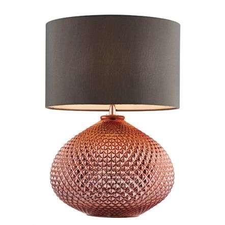 Livia Copper Glass Table Light
