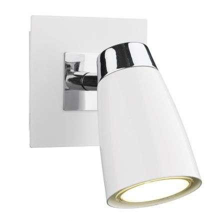 Loft 1 Light Low Energy Spot Switch Polished Chrome & Matt White