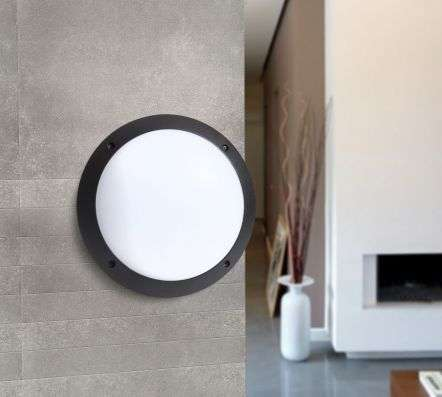 Lucia LED Fumagalli Wall & Ceiling Bulkhead Black