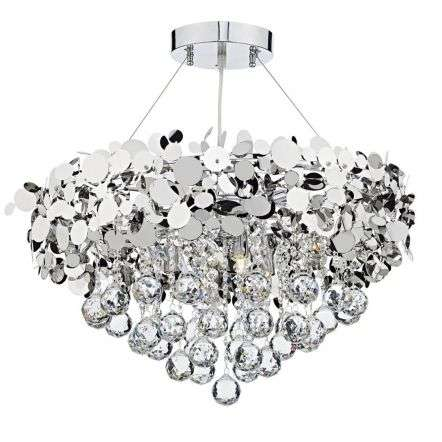 Luxor 9 Light Pendant Polished Chrome Clear LUX1350 | Online Lighting Shop