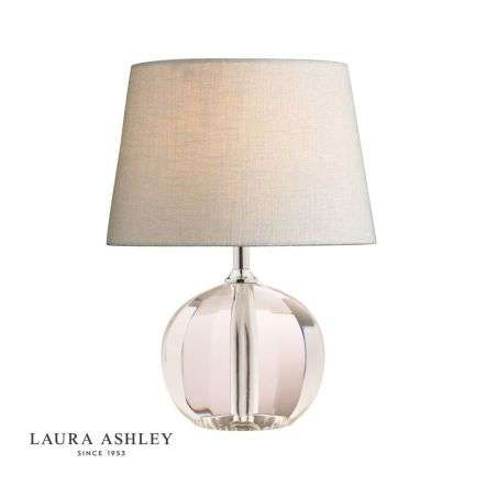 Lydia Hand-Cut Faceted Crystal Glass Globe Table Lamp Base Petite