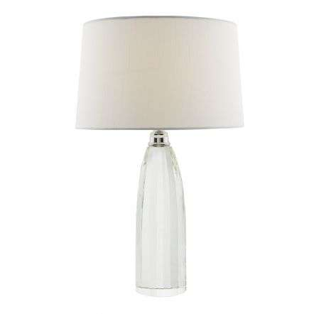 Lyla Table Lamp Solid Crystal Base C/W Ivory Shade