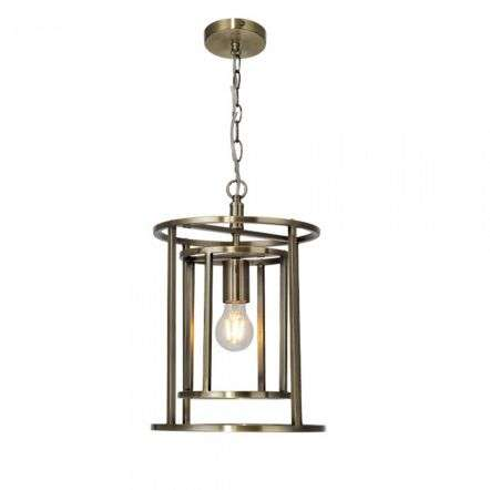 Magnalux CHE01AB Chester Lantern Single Pendant Antique Brass