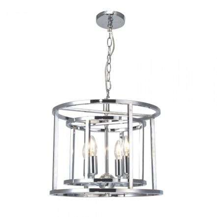 Magnalux CHE04CH Chester Lantern 4 Light Pendant Polished Chrome