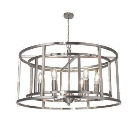 Magnalux CHE06 Chester Lantern 6 Light Pendant Satin Chrome