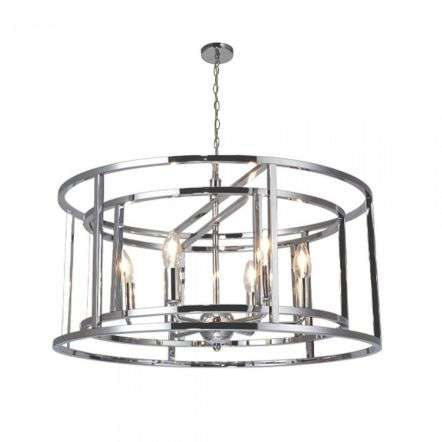 Magnalux CHE06CH Chester Lantern 6 Light Pendant Polished Chrome
