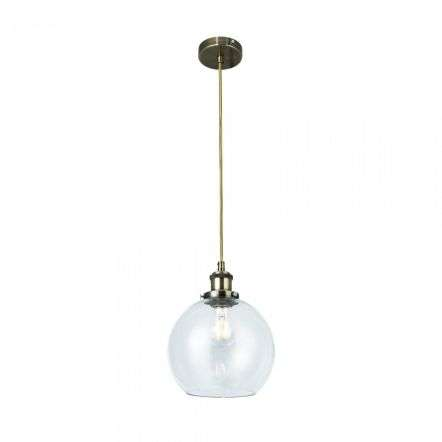 Magnalux LEW01ABS Lewis Small Glass Ball Pendant Antique Brass