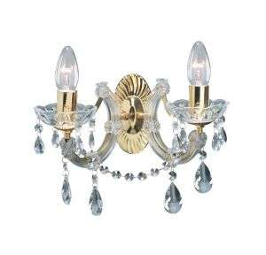 Marie Therese 2-Light Crystal Wall Bracket