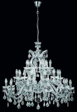 Marie Therese 3314-12+12+6 Chrome Crystal Chandelier Dia95