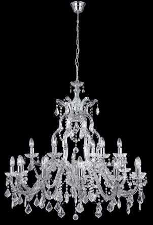Marie Therese 3314-12+6 Chrome Crystal Chandelier Dia95