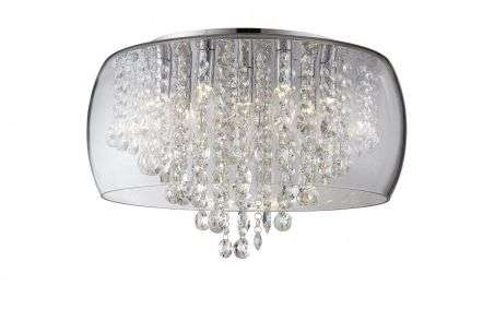 Marquis by Waterford Nore Large Crystal Encased Flush Chrome