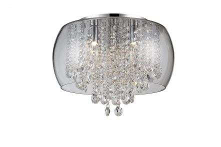 Marquis by Waterford Nore Small Crystal Encased Flush Chrome