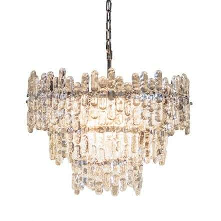 Maya 9 Light Pendant in Chrome with Clear Glass