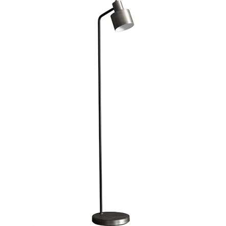 Mayfield Floor Lamp in Brushed Silver Finish
