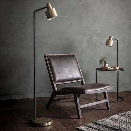 Mayfield Floor Lamp in Matt Antique Brass