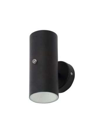 Melo Black Up & Down Light with a Photocell Sensor IP44