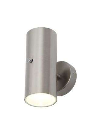 Melo Stainless Steel Up & Down Light with a Photocell Sensor IP44