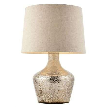Meteora Vintge White Table Lamp C/W Shade