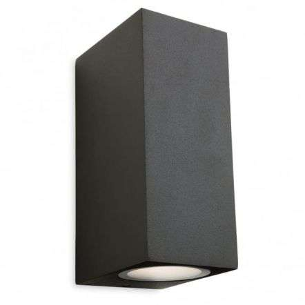 Minimalist Graphite LED Outdoor Wall Light