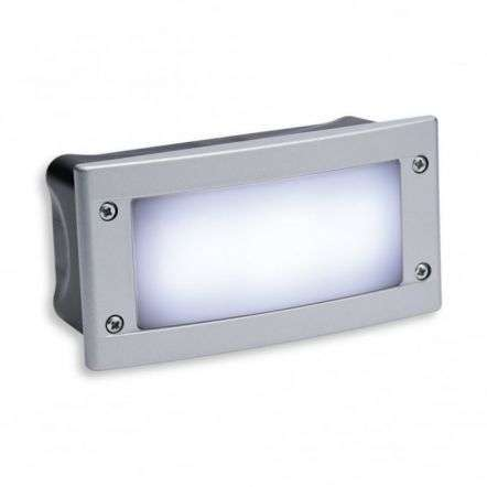 Minimalist Silver Outdoor Bright LED Brick Light