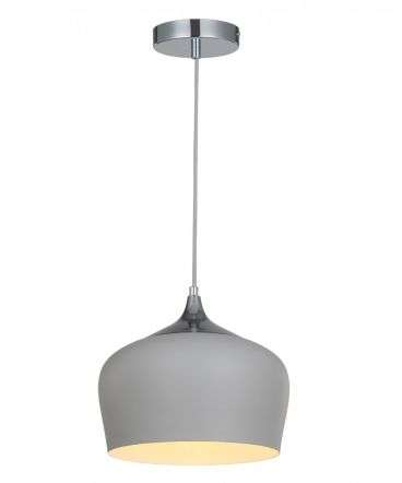 Modena 1 Light Grey Beige Metal Pendant