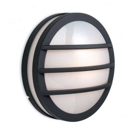 Modern Black Outdoor Flush Wall Light