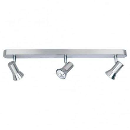 Modern Brushed Steel Ceiling Spot Light Bar