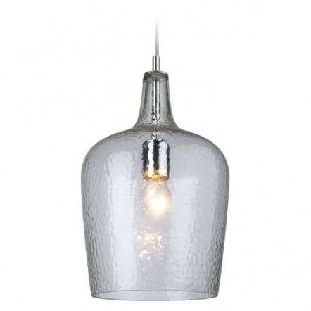 Modern Chrome Glass Ceiling Kitchen Bell Shade Pendant