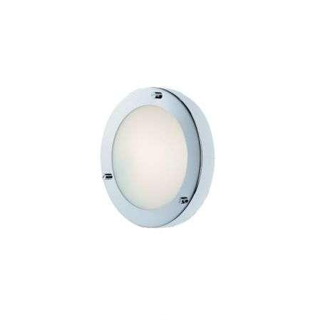 Modern Chrome Opal Glass Flush Wall Light