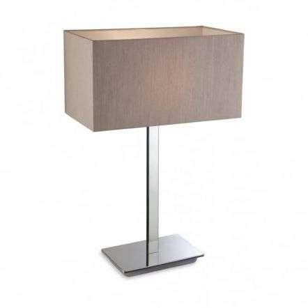 Modern Chrome Oyster Table Light Fitting