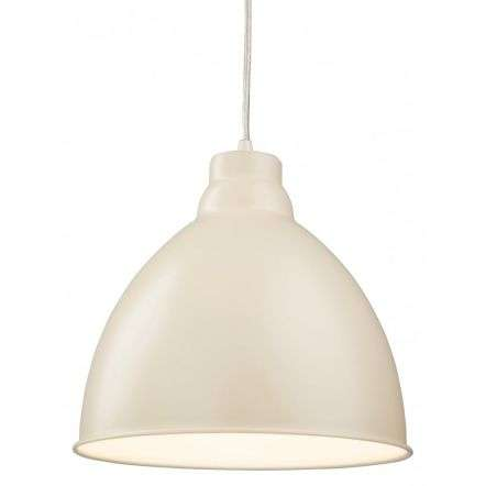 Modern Cream Dome Shade Ceiling Pendant Light Fitting