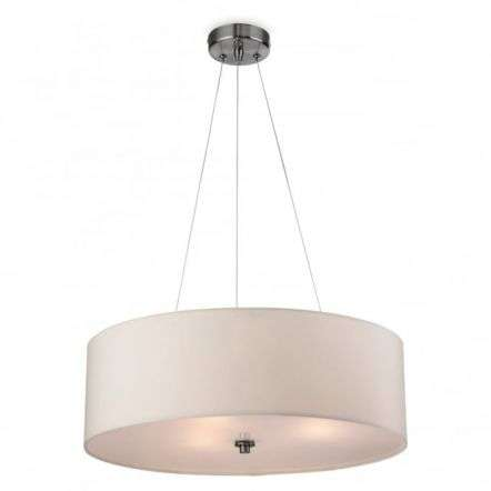 Modern Cream Drum Shade Suspended Ceiling Light Fitting
