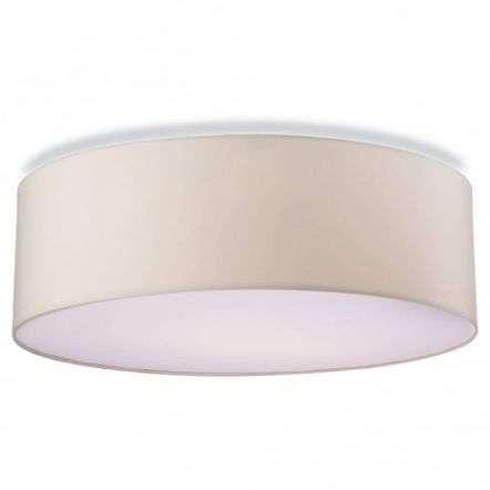 Modern Cream Drum Shade Suspended Ceiling Pendant Light