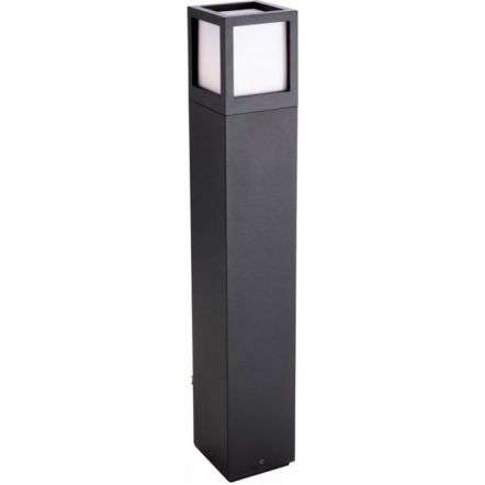 Modern Industrial Large Graphite Outdoor Bollard Post