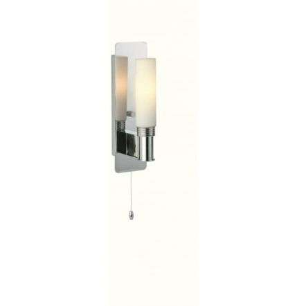 Modern Minimalist Chrome Wall Sconce Light