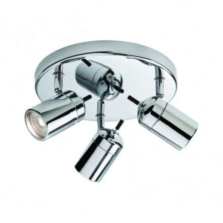 Modern Polished Chrome Bathroom Single Spotlight