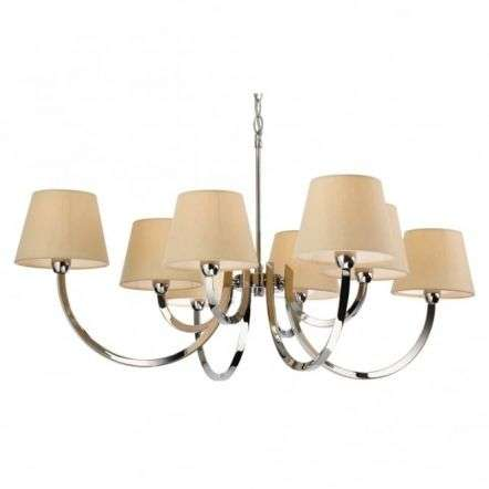 Modern Polished Chrome Candle Cream Ceiling Pendant Light Fitting
