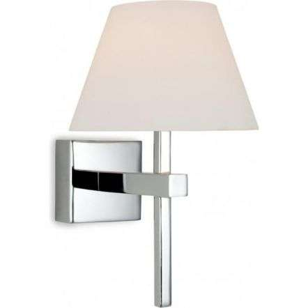 Modern Polished Chrome Wall Sconce Light