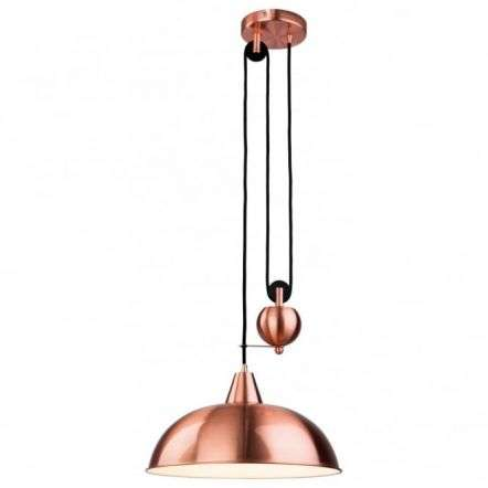 Modern Red Copper Dome Shade Ceiling Pendant Light Fitting