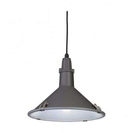 Modern Scandinavian Anthracite Single Light Pendant in Grey
